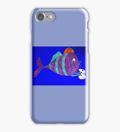 xbox gaming singular fish  iPhone Case/Skin