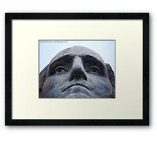 Washington on Rushmore Framed Print