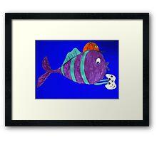 xbox gaming singular fish  Framed Print