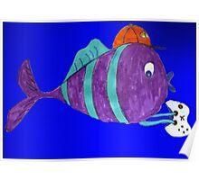 xbox gaming singular fish  Poster