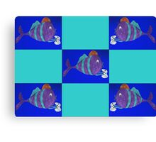 xbox gaming fish Canvas Print
