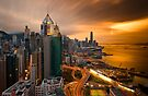 Hong Kong Sunset 2015 by Delfino