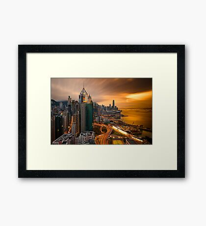 Hong Kong Sunset 2015 Framed Print