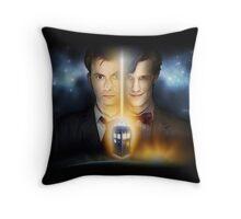 Doctor Who - Tennant & Smith  Throw Pillow