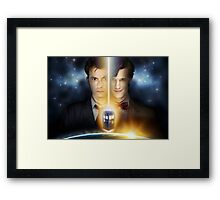 Doctor Who - Tennant & Smith  Framed Print