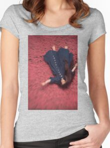 By the Flowers She was Swept Away Women's Fitted Scoop T-Shirt