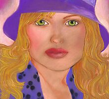 Striking in a Purple Hat by Laura J. Holman