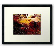 Oceans Of Gold Framed Print