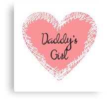 Daddy's Girl for Kids Canvas Print