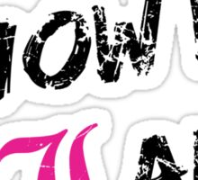 Don't You Know Who I Am? (Black) Sticker