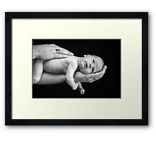 Daddy's Hands Framed Print
