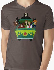 Scream-Scooby Doo Mens V-Neck T-Shirt