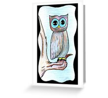 Skeptical Owl Greeting Card