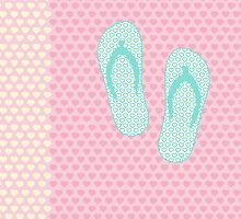 Flip Flop Pastel by XOOXOO