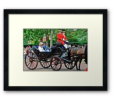 Prince William and Princess Alexandra: Trooping the Colour 2010 Framed Print