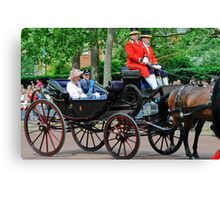 Prince William and Princess Alexandra: Trooping the Colour 2010 Canvas Print
