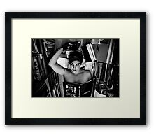 beauty..and brains Framed Print