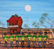 """World Cup Outback Aussie Style"" Original Australian Acrylic Painting ; SOLD by EJCairns"