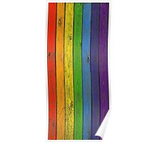Rainbow fence Poster