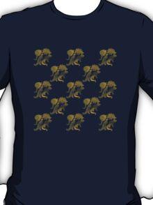 dino black pattern T-Shirt