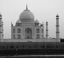 Taj Mahal in black and white by John Dalkin