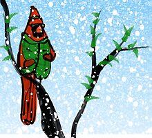 Winter Cardinal by elledeegee