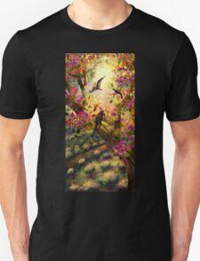 Three birds at sunset T-Shirt