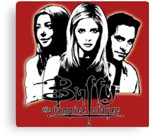A Trio of Scoobies (Willow, Buffy & Xander) Canvas Print