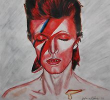 David Bowie - Aladdin Sane by essenn