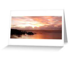 4 Mile Beach Sunrise -  Panoramic - Port Douglas - QLD - Australia Greeting Card
