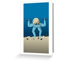 Muscular Omanyte Greeting Card