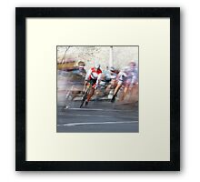 Group of Cyclists Head into the Final Lap Framed Print