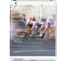 Group of Cyclists Head into the Final Lap iPad Case/Skin