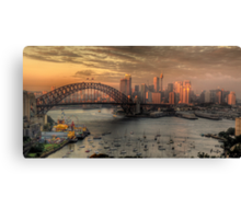 Painted Skies - Sydney Harbour, Sydney Australia(28 Exposure HDR Panoramic) - The HDR Experience Canvas Print