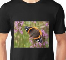 Red Admiral Wings Spread Unisex T-Shirt