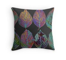 Glowing Pattern of Leaves Throw Pillow