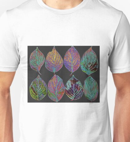 Glowing Pattern of Leaves Unisex T-Shirt
