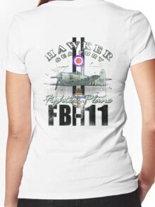 hawkers sea fury Women's Fitted V-Neck T-Shirt
