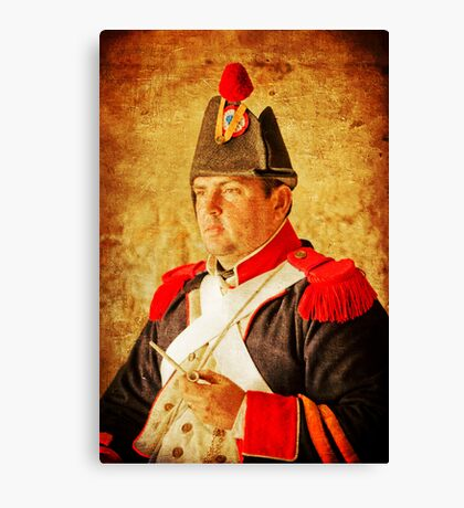 Military Portrait Canvas Print