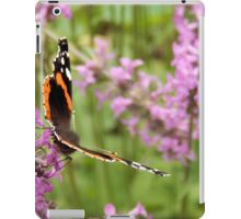 Red Admiral Butterfly on Purple iPad Case/Skin