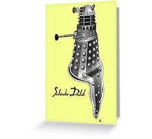Salvador Dalek Greeting Card