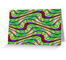 Multi-Coloured Swirl Pattern Greeting Card