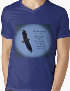 Wings as Eagles Mens V-Neck T-Shirt