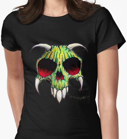 skull 2 t Womens Fitted T-Shirt