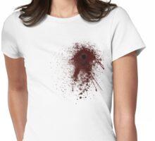 bloody gun shot Womens Fitted T-Shirt