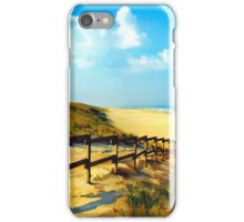 path to sandy beach iPhone Case/Skin