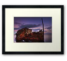 "Wreck of the steamship ""Henry Meakin"" Framed Print"