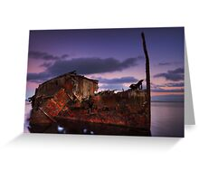"""Wreck of the steamship """"Henry Meakin"""" Greeting Card"""