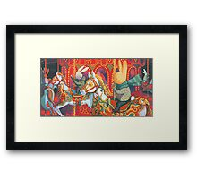 Rabbits at the Fairground Framed Print