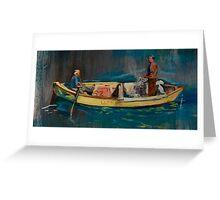 Chilean Fishermen Greeting Card